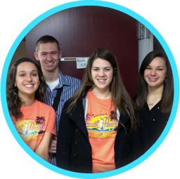 Photo of smiling Wabash students