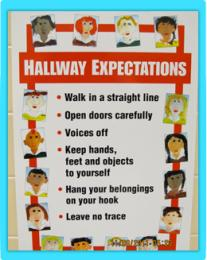 Hallway Expectations poster from Fond du Lac